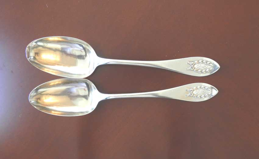 Sterling Silver SOUP SPOON 21см in the pattern NAPOLEONIC BY SHREVE
